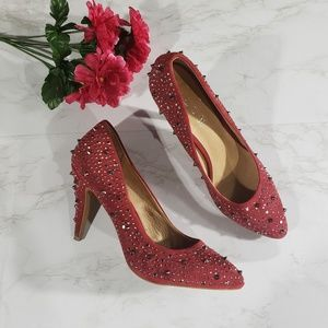Aldo Red studded stiletto heels pumps Size 11